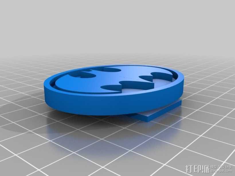 蝙蝠扣 3D打印模型渲染图