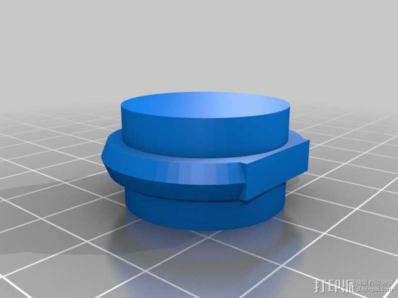优雅的戒指 3D打印模型渲染图