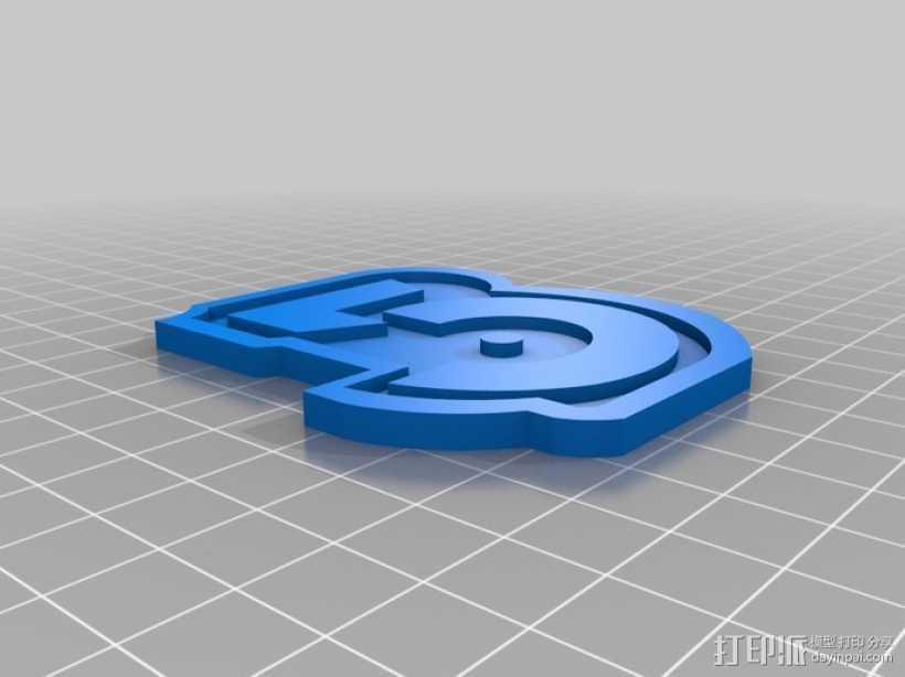 巴比伦5号徽章 3D打印模型渲染图
