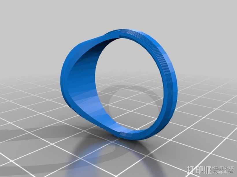 符号戒指 3D打印模型渲染图