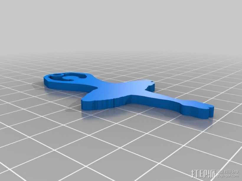 芭蕾舞娘 3D打印模型渲染图