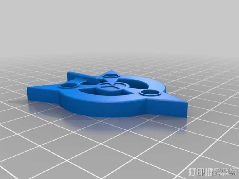 《天际》护身符 3D打印模型渲染图