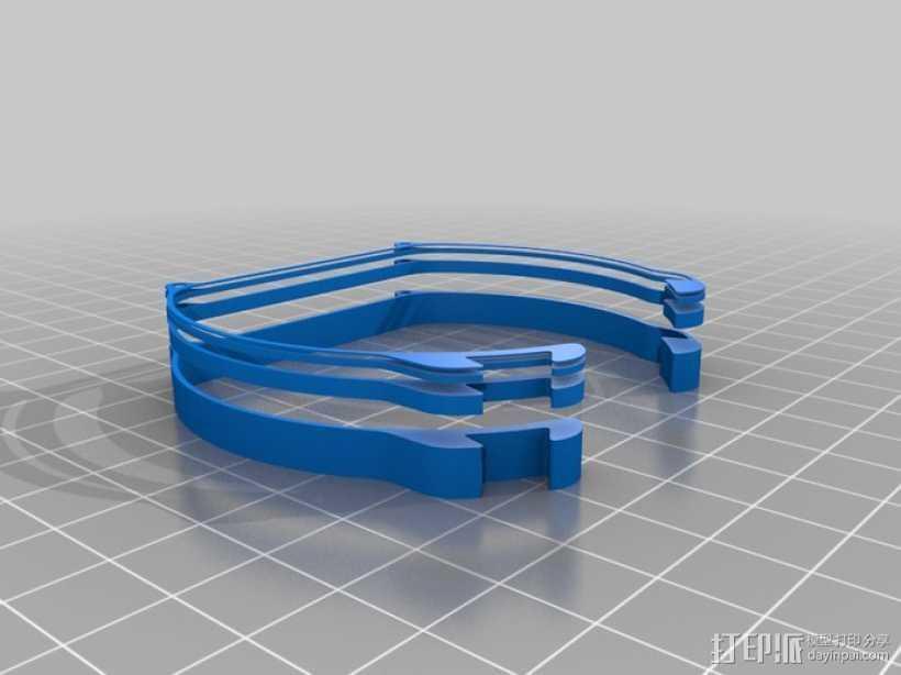 斐波那契数列表带 3D打印模型渲染图