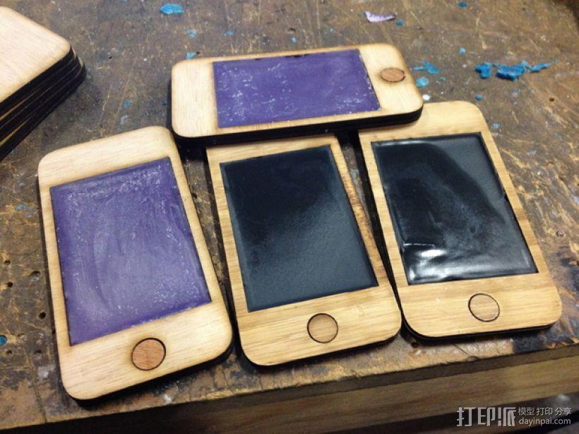 中世纪风格的PDA——IPhone 版 3D打印模型渲染图