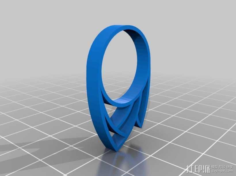 火焰戒指 3D打印模型渲染图