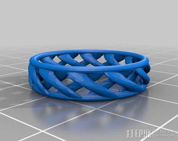 线性结构指环  3D打印模型渲染图