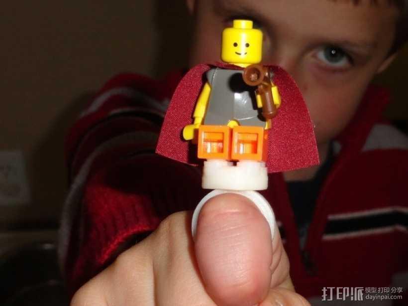 乐高玩具固定槽 3D打印模型渲染图