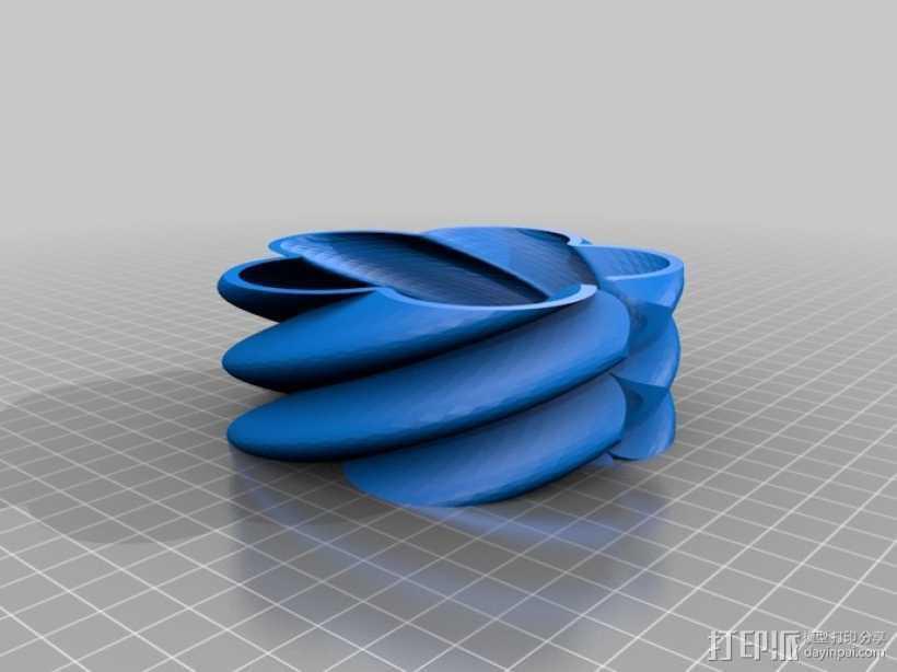 曲型支架 3D打印模型渲染图