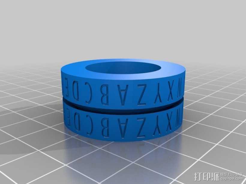 凯撒密码解码器戒指 3D打印模型渲染图