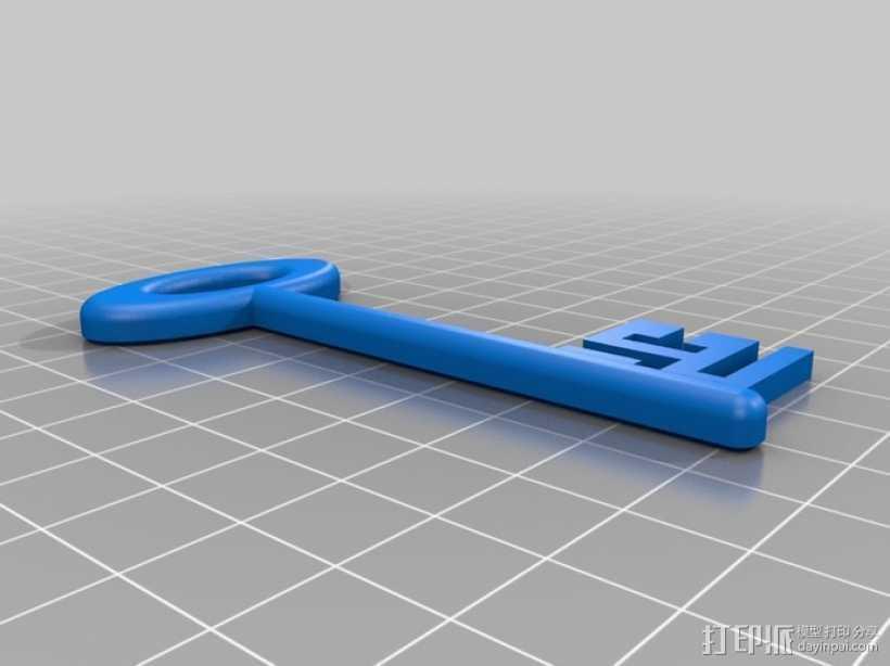 道具钥匙 3D打印模型渲染图
