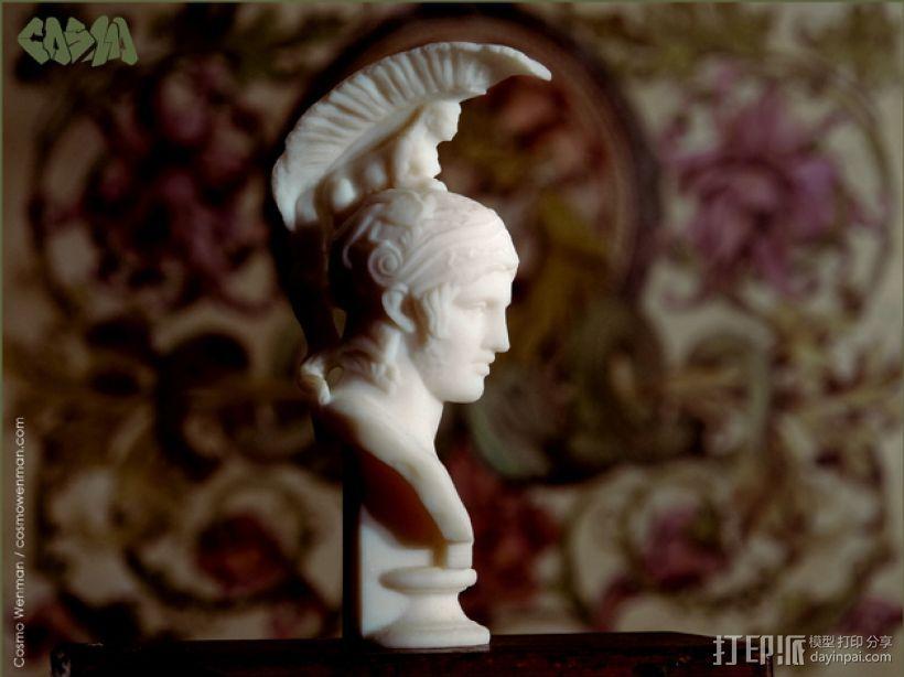 战神头像 3D打印模型渲染图