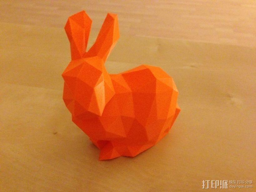 低多边形兔子 3D打印模型渲染图