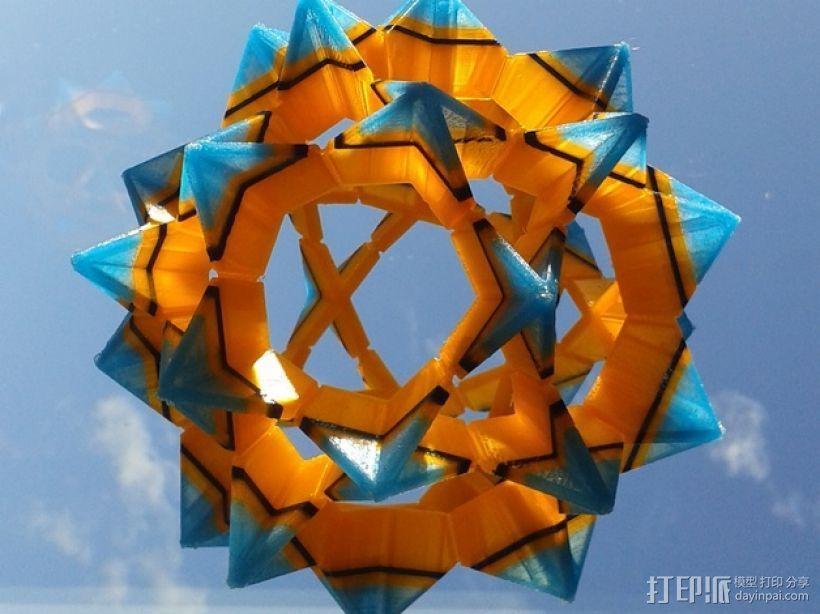 伊莱克特拉 三维打印模块化折纸 3D打印模型渲染图