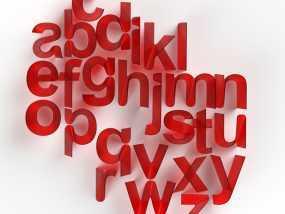 3D打印字母