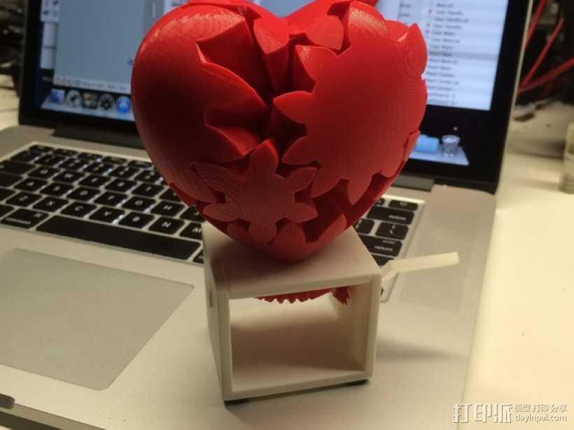 心形手动曲柄 3D打印模型渲染图