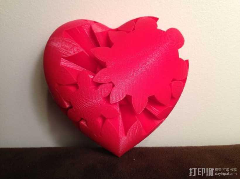 三个齿轮心 3D打印模型渲染图