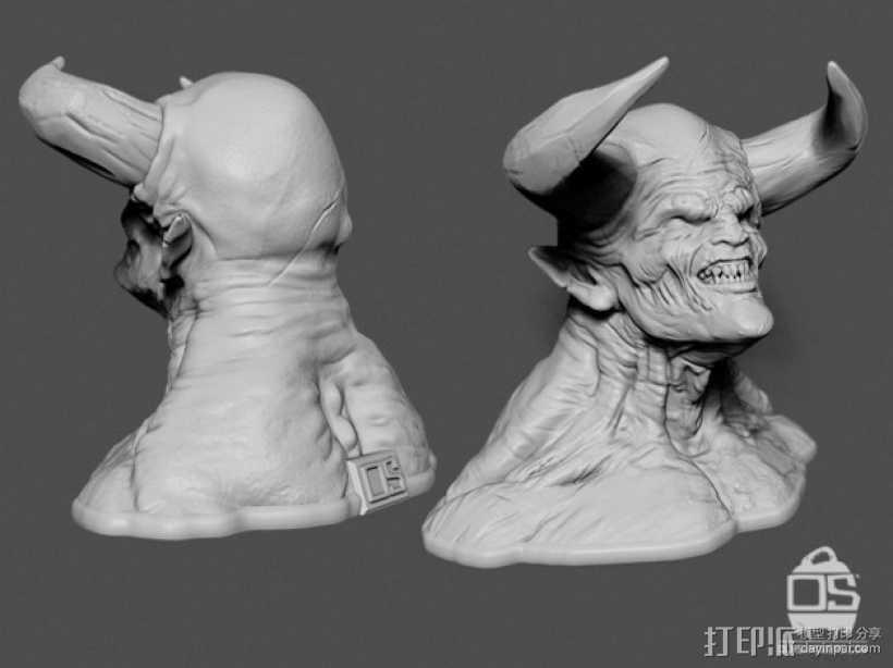 暗黑破坏神 3D打印模型渲染图