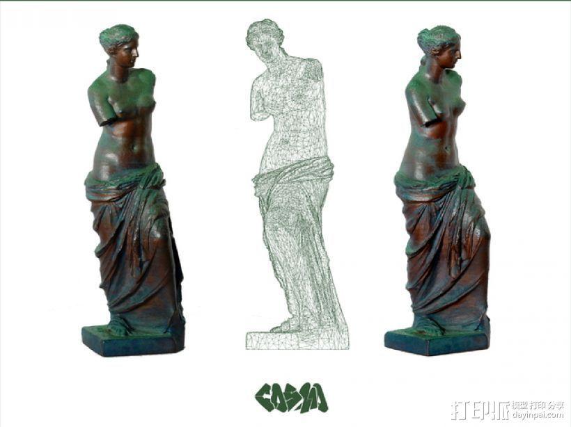 维纳斯 3D打印模型渲染图