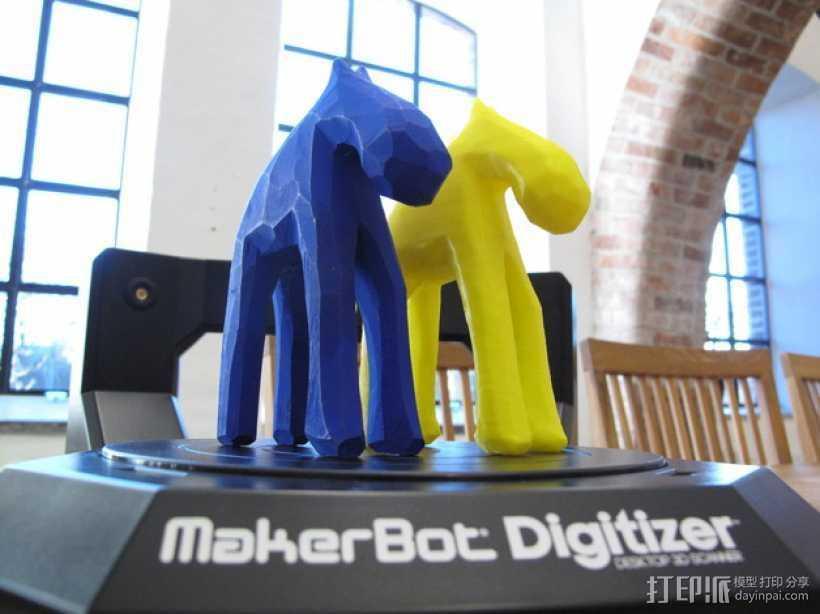 手工木质麋鹿 3D打印模型渲染图