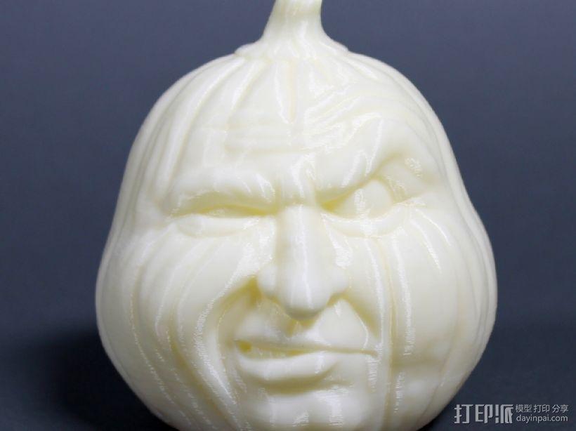 愤怒的南瓜 3D打印模型渲染图