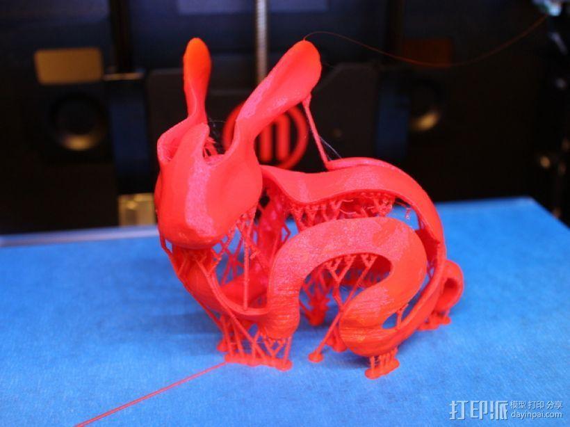 小白兔 3D打印模型渲染图