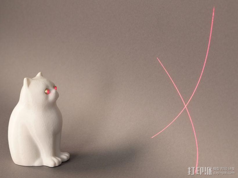 激光猫 3D打印模型渲染图