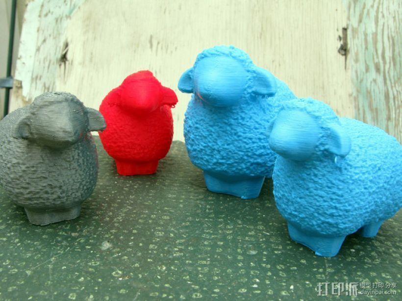 小绵羊 3D打印模型渲染图