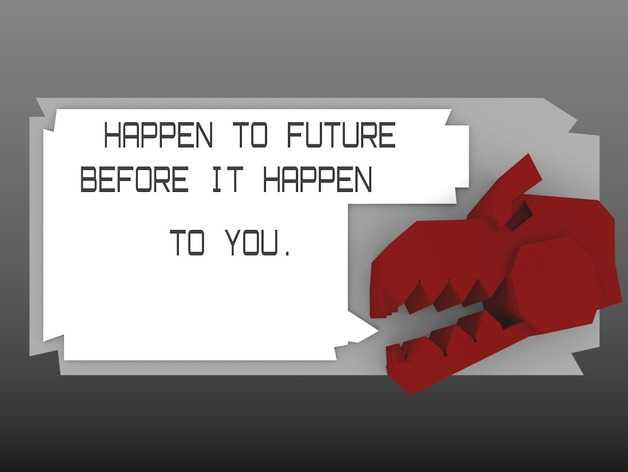 弹簧锁 3D打印模型渲染图