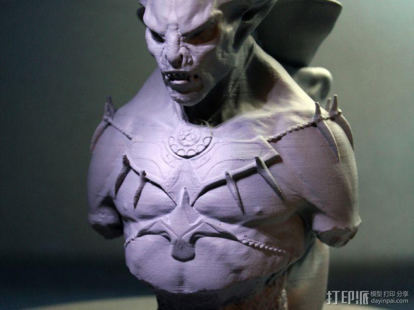 吸血鬼雕像 3D打印模型渲染图