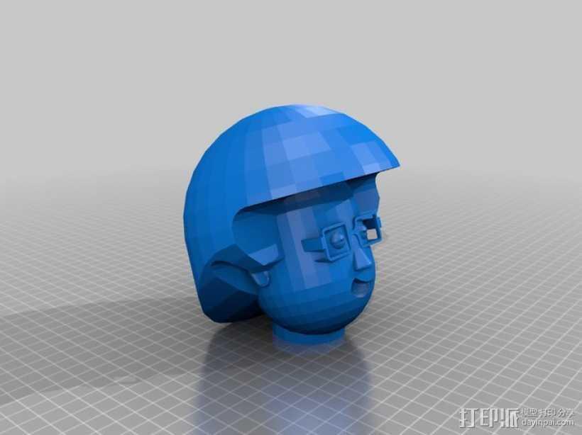 卡通人物头像 3D打印模型渲染图