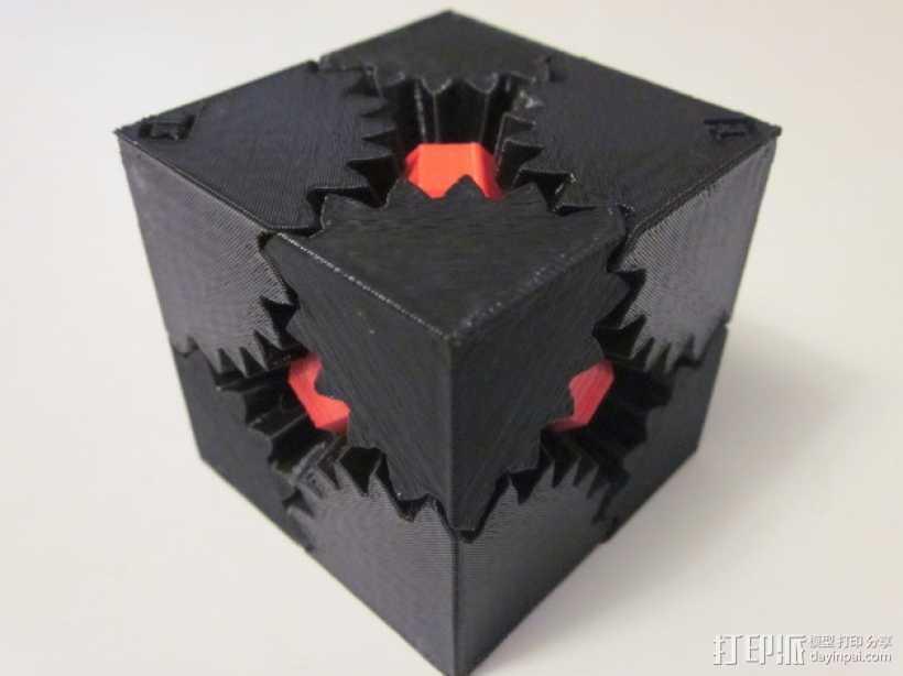 齿轮方块 3D打印模型渲染图