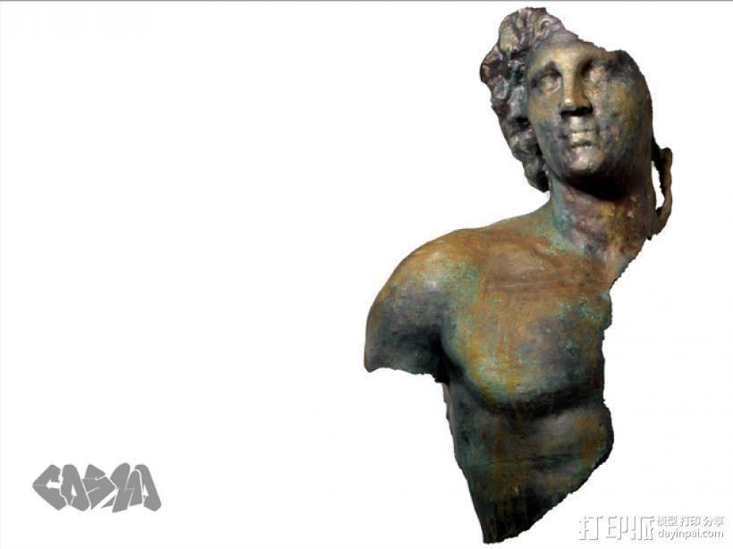 亚历山大大帝 半身像 3D打印模型渲染图