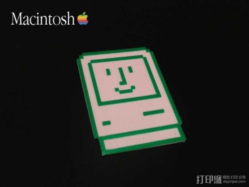 Macintosh苹果电脑 3D打印模型渲染图