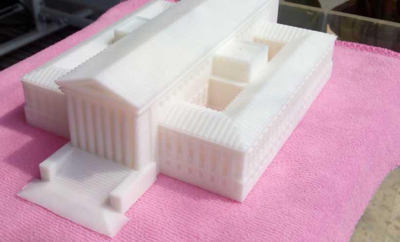 美国最高法院大厦 3D打印实物照片