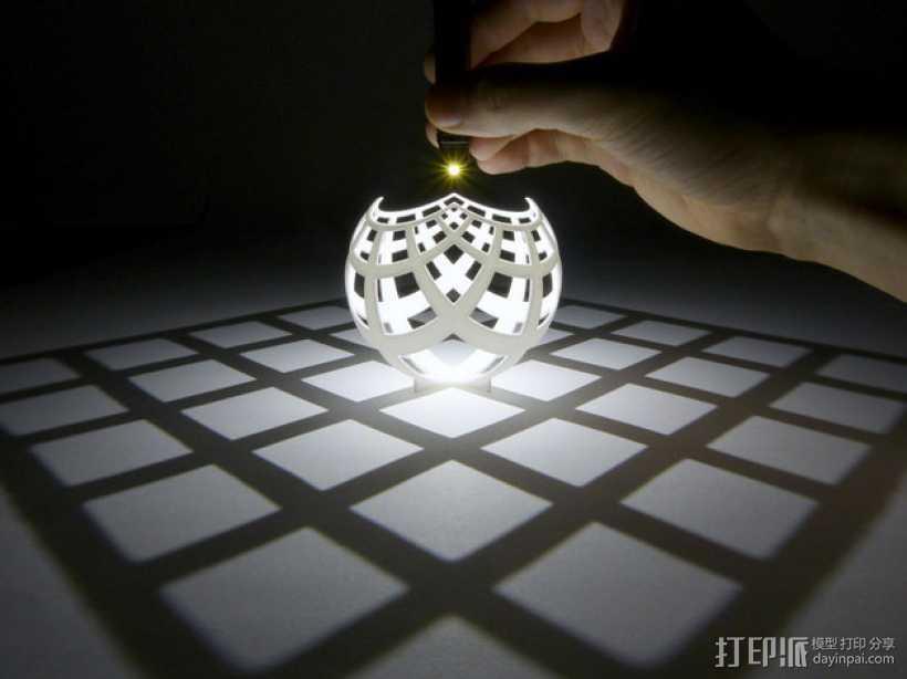 球面投影 3D打印模型渲染图