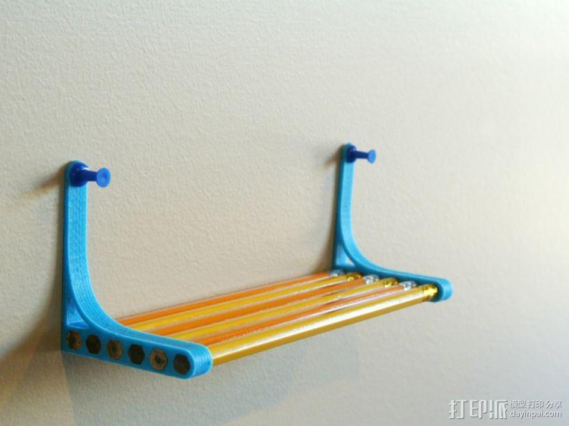 铅笔书架 3D打印模型渲染图