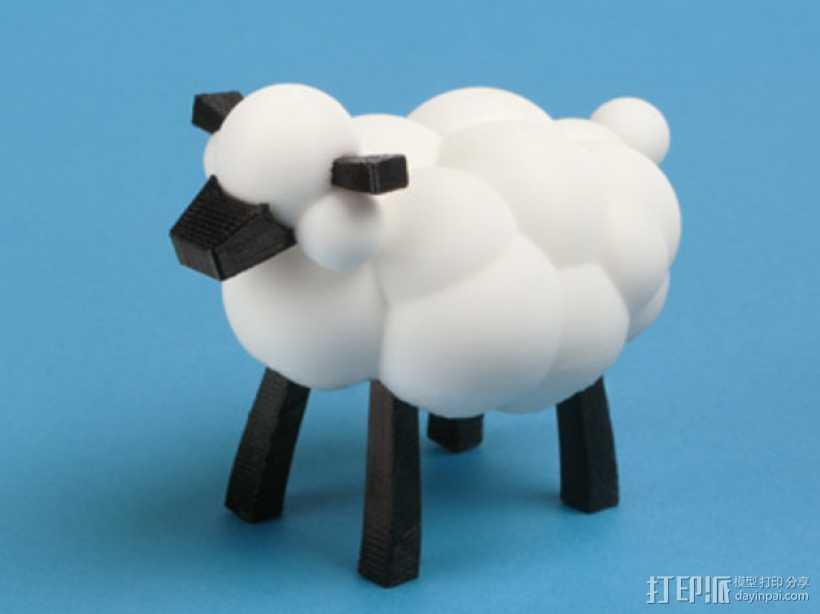 小棉羊 3D打印模型渲染图