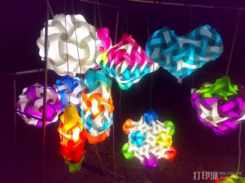 拼图灯罩 3D打印模型渲染图