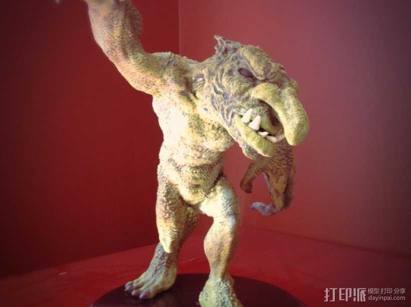 巨魔雕像 3D打印模型渲染图