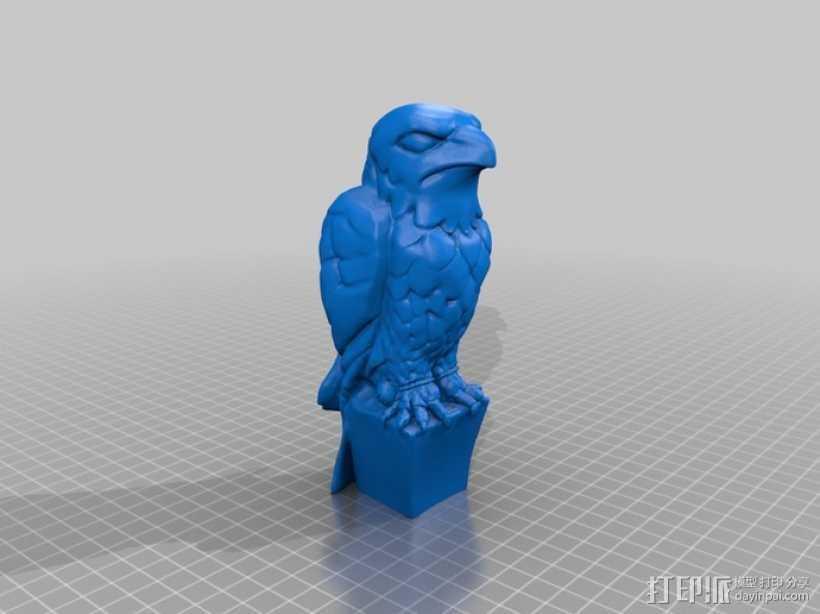 马耳他猎鹰 雕像模型 3D打印模型渲染图