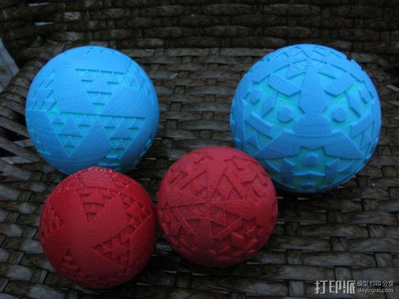 八面体对称图形 小球 3D打印模型渲染图