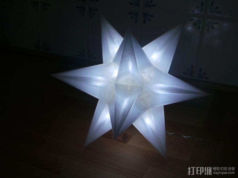 USB圣诞星 3D打印模型渲染图