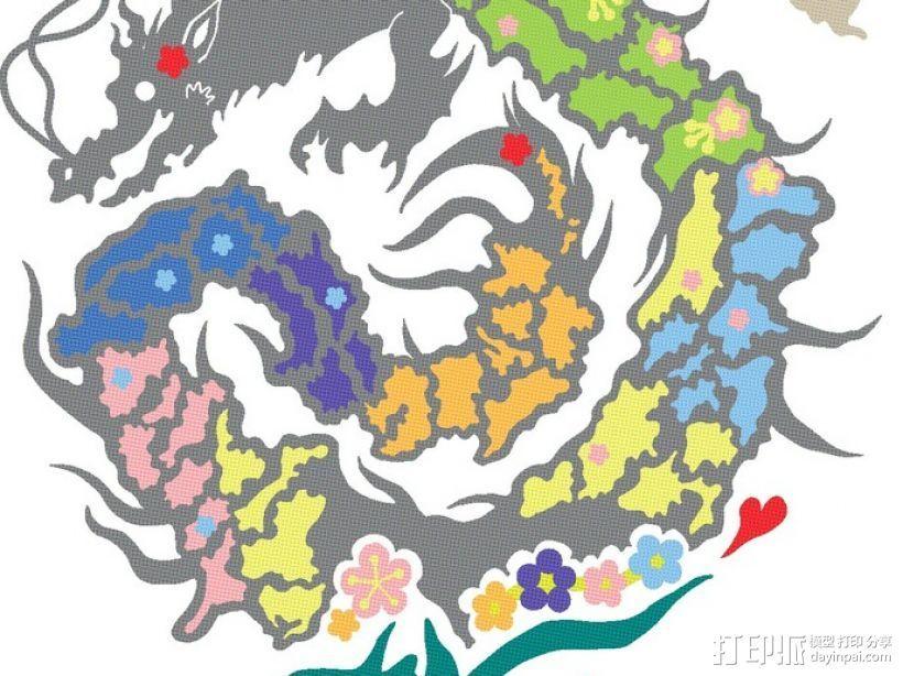 复活的龙  模型 3D打印模型渲染图