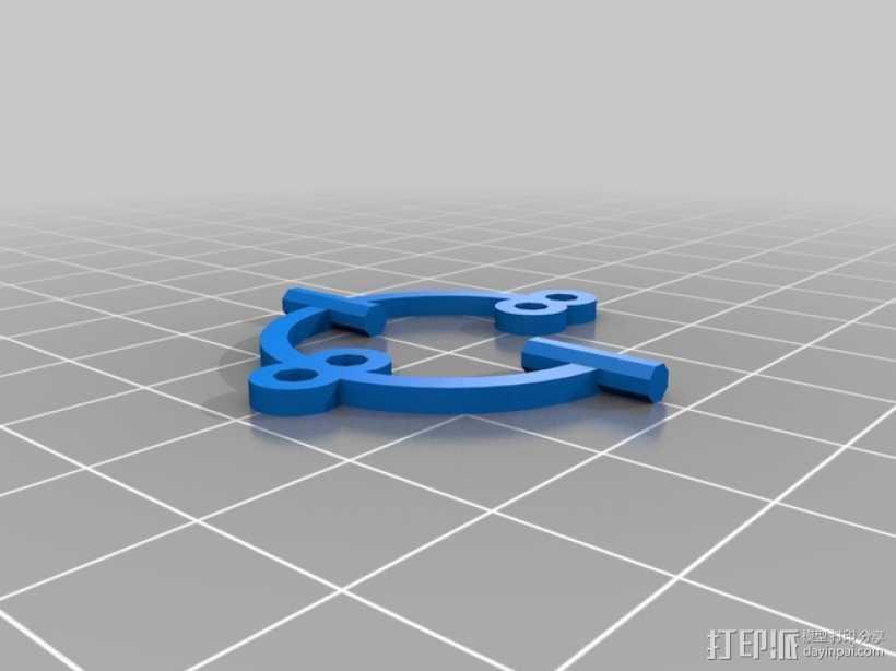 小猴子雕像 3D打印模型渲染图