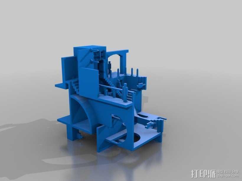 埃舍尔 建筑模型 3D打印模型渲染图