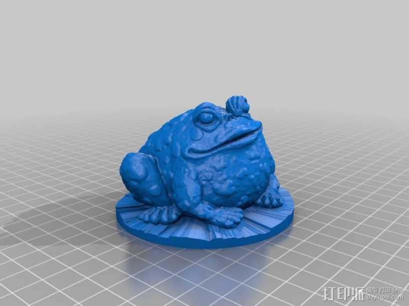 园子里的蟾蜍  3D打印模型渲染图