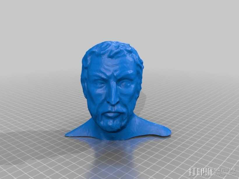 半身人像 雕像 3D打印模型渲染图