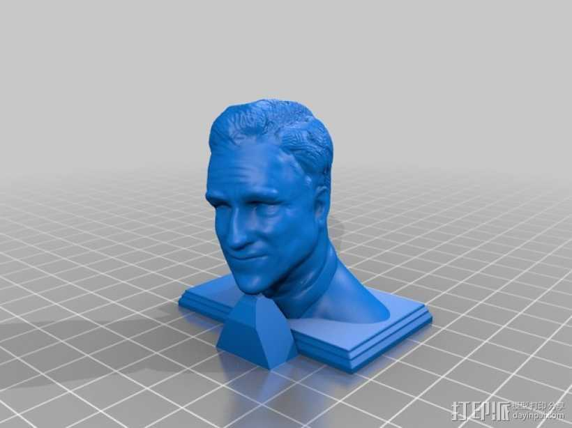 米特·罗姆尼 头像模型 3D打印模型渲染图