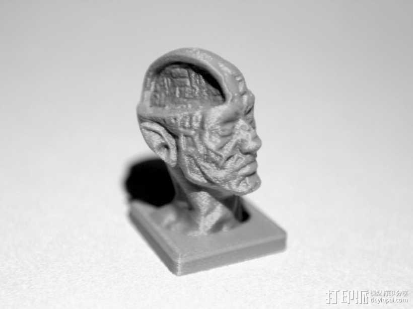 丧尸 雕像模型 3D打印模型渲染图