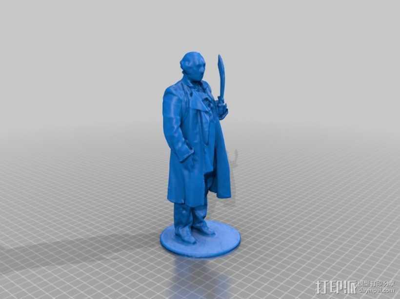 华盛顿 雕像模型 3D打印模型渲染图